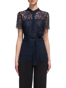 Whistles Fraia Lace Shirt