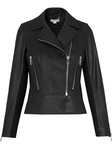 Whistles Carmen Leather Biker Jacket