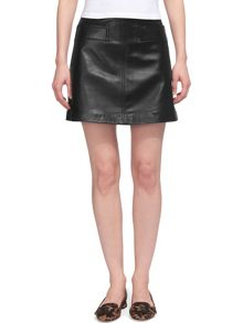 Whistles Rita Leather Skirt