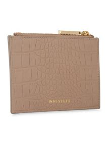 Whistles Matte Croc Coin Purse