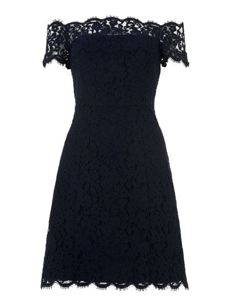 Whistles Off Shoulder Lace Dress
