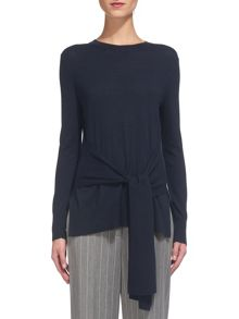 Whistles Tie Front Long Sleeve Knit