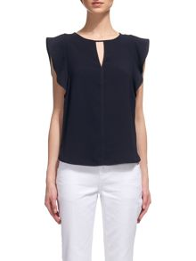 Whistles Imelda Fluted Sleeve Top