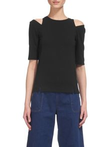 Whistles Split Shoulder Detail Top