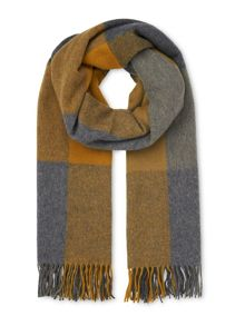 Whistles Modern Check Blanket Scarf