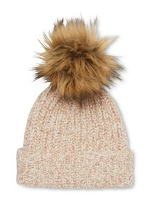 Whistles Knitted Marl Pom Hat