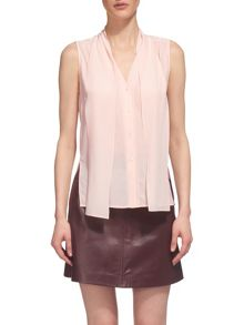 Whistles Silk Scarf Neck Blouse