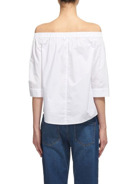 Whistles Cotton Bardot Top