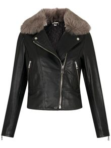 Whistles Toscana Fur Collar Jacket