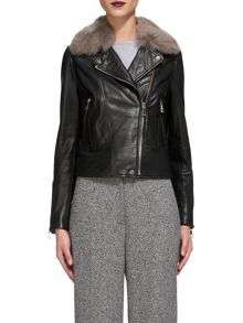 Whistles Toscana Faux Fur Collar Jacket