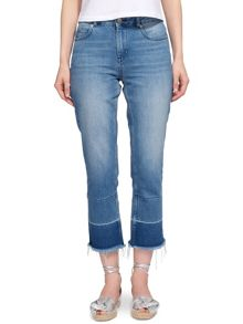 Whistles Relaxed Raw Hem Jean