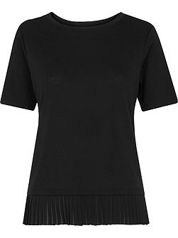 Pleat Trim T-shirt