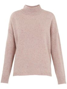Whistles Funnel Neck Donegal Knit