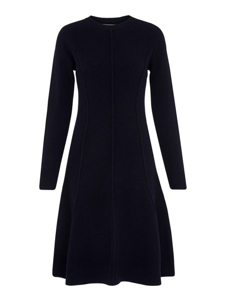 Whistles Seymour Wool Flare Knit Dress