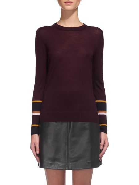 Whistles Hayden Stripe Cuff Knit