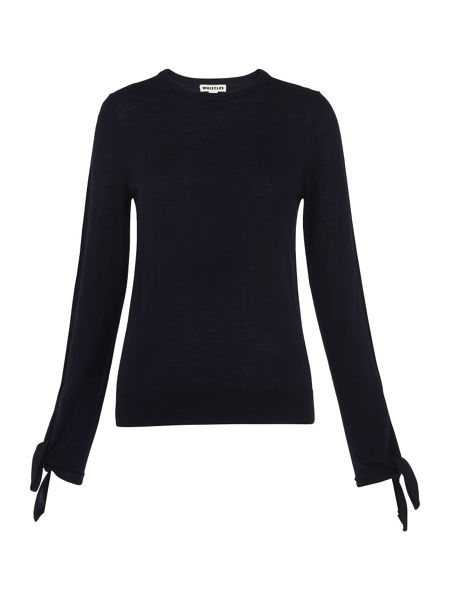 Whistles Tie Cuff Sleeve Knit
