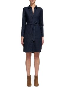 Whistles Miranda Belted Denim Dress
