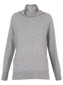 Whistles Cashmere Pocket Funnel Neck