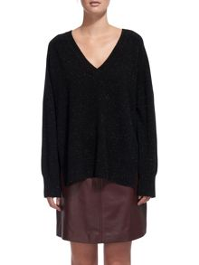 Whistles Donegal Cashmere V-Neck Knit