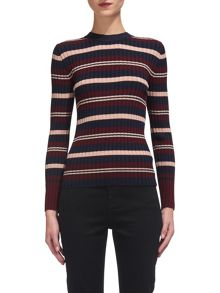 Whistles Stripe Rib Sweater