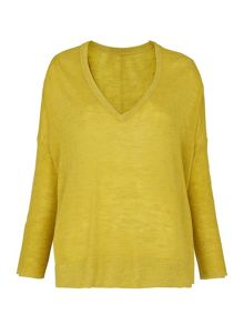 Whistles V Neck Marl Knit