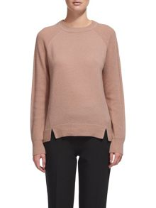 Whistles Ribbed Sleeve Cashmere Sweater