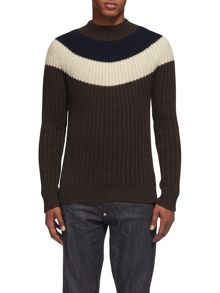 Whistles Striped Fairisle Sweater