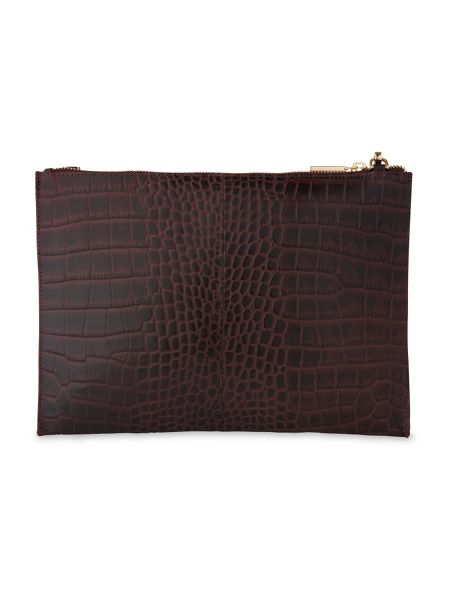 Whistles Shiny Croc Chain Pouch