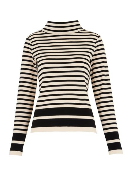 Whistles Funnel Neck Stripe Top