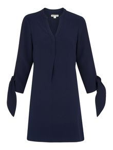 Whistles Jerry Tie Sleeve Dress