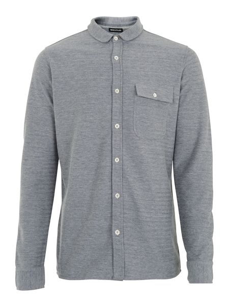 Whistles Herringbone Jersey Shirt