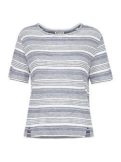 Stripe Split Hem T-shirt