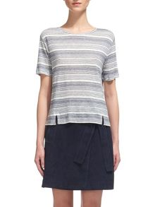 Whistles Stripe Split Hem T-shirt