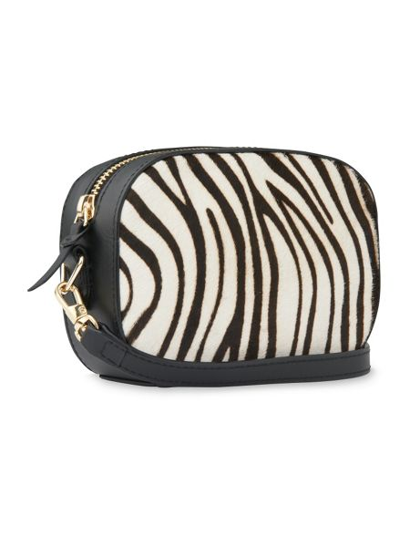 Whistles Baxter Zebra Print Camera Bag