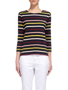 Whistles Multi Stripe Long Sleeved Tee