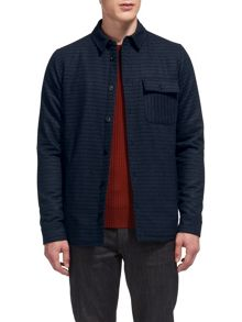 Whistles Striped Wool Overshirt
