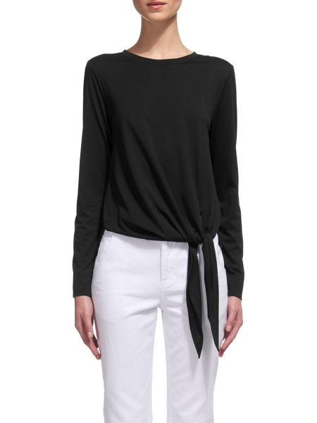 Whistles Tie Detail Long Sleeve T-shirt