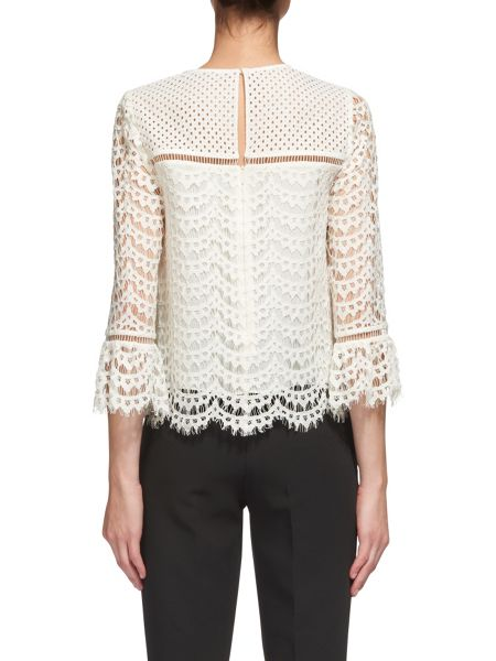 Whistles Valentina Fluted Sleeve Top