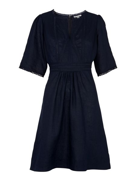 Whistles Loma Embroidered Dress