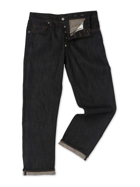 Whistles Raw Selvedge Wide Leg Jeans