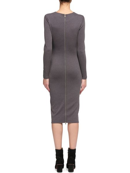 Whistles Millie Jacquard Jersey Dress