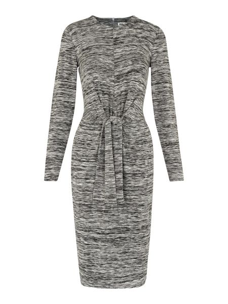 Whistles Ira Tie Front Marl Dress