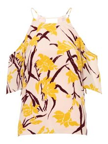 Whistles Lilly Print Cold Shoulder Top