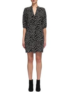 Whistles Giraffe Print Dress