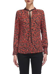 Whistles Cherry Print Blouse
