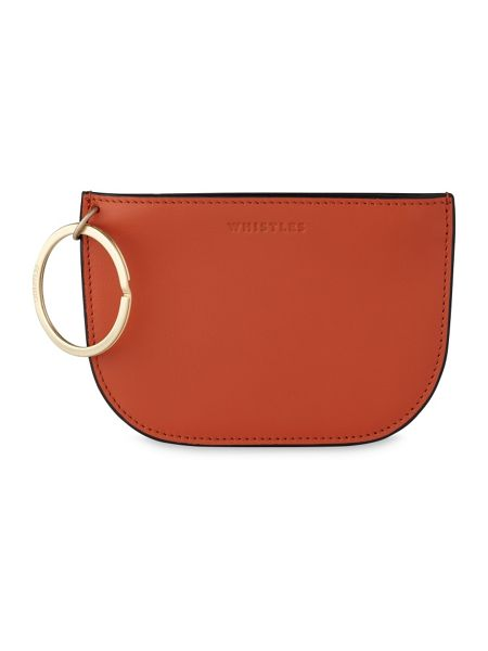 Whistles Bay Half Moon Ring Coin Purse