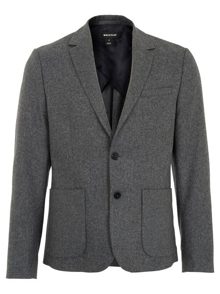 Whistles Deconstructed Flannel Blazer
