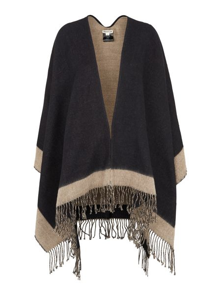 Whistles Marl Colourblock Cape