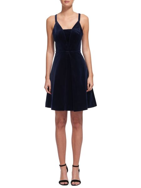 Whistles Suzie Love Velvet Dress