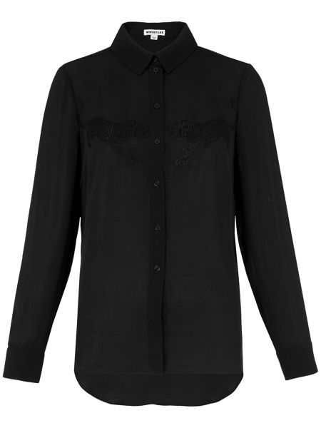 Whistles Tiger Embroidered Shirt